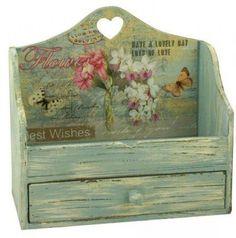 Rustic Shabby Chic Wood Heart Letter Rack