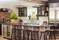 Vintage Meets Modern Farmhouse Kitchen.   SAVED BY WENDY SIMMONS