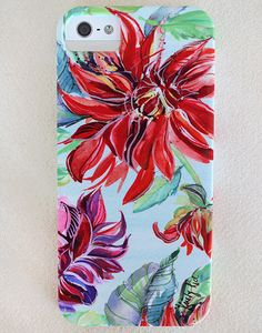 iPhone case featuring Kristy's Bold Bright Dahlia artwork