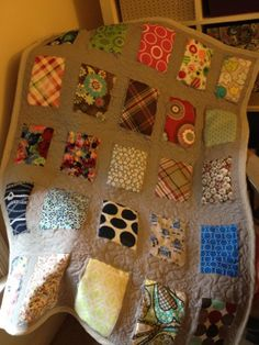 Thirty-one Quilt! I love this idea for using old fabric samples!