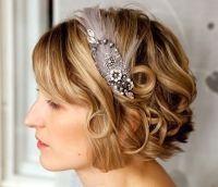 Acconciatura da sposa capelli corti cerchietto sposa