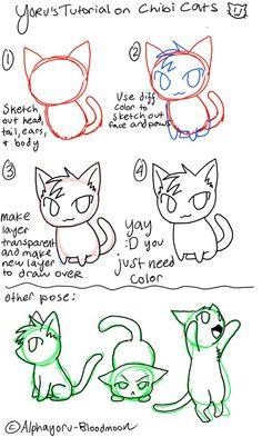 Chibi Cat Tutorial by AlphaYoru BloodMoon
