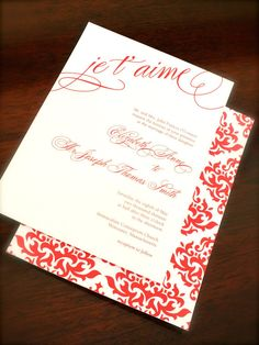 Printable Wedding Invitation Package  Language of by pompdesigns, $79.00