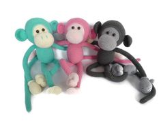 Mike the Monkey Amigurumi Crochet pdf Pattern EN DK von Sugaridoo