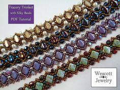 Pattern for Tracery Trinket with Silky Beads by WescottJewelry on Etsy https://www.etsy.com/listing/219869748/pattern-for-tracery-trinket-with-silky