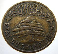 The Lebanese cedar Lebanon Cedar, Mount Lebanon, Museum Studies, Phoenician, Cedar Trees, Beirut Lebanon, World Coins, Rare Coins, Coin Collecting