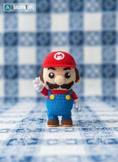 Patrón en crochet de Mario de Super Mario Bros. Tutorial