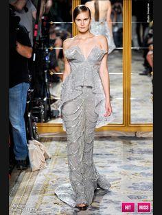 Marchesa metallic silver sequins texture layer details gown fashion design love