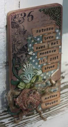 Altered plaque for Mothers Day by Lesley for the Calico Crafts design team.