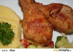 Jižanské kuřecí paličky recept - TopRecepty.cz Meat, Chicken, Food, Essen, Meals, Yemek, Eten, Cubs
