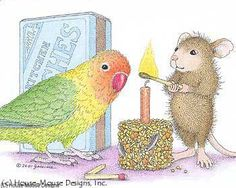 """Mudpie & friend featured on The Daily Squeek® for Aug. 21st, 2014. Click on the image to see it on a bunch of really """"Mice"""" products."""