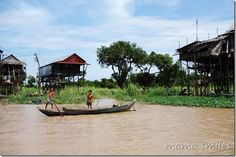 Visiting a Cambodian water village