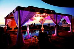 """Dance under the Stars out on the Terrace. Perfect for wedding """"lounging"""". CAMILLE and KOSTAS get married - Greek Wedding- Don CeSar Ballroom Reception   Georgia Watson Events Inc. ~ Weddings by Georgia"""