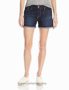 Signature by Levi's Strauss and co. Modern shorts are crafted from premium super stretchy simply stretch denim that keeps its shape all day and won't bag out. T Bag, Levi Strauss & Co, Stretch Denim, Women Shorts, Denim Shorts, Sky, Stuff To Buy, Modern, Shape