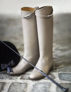 Hermes leather boots//