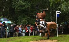 Anna Warnecke of Germany takes a huge fall at the 25th jump as she competes on her horse Twinkle Bee during cross country on day three of The Land Rover Burghley Horse Trials on September 6, 2008 in Stamford, United Kingdom.