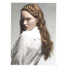 Lily Cole by Jason Ell / Lula magazine Fall/Winter Lily Cole, British Fashion Awards, Double Braid, Bun Hairstyles, Haircuts, Plaits, Redheads, Red Hair, Fashion Models