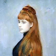 Astoria Grand Kunstdruck Portrait of Mademoiselle Alice Guerin von Paul Cesar Helleu Giovanni Boldini, John Singer Sargent, Oil On Canvas, Canvas Prints, Art Prints, Portraits Pastel, Ceiling Murals, Long Red Hair, Brown Hair