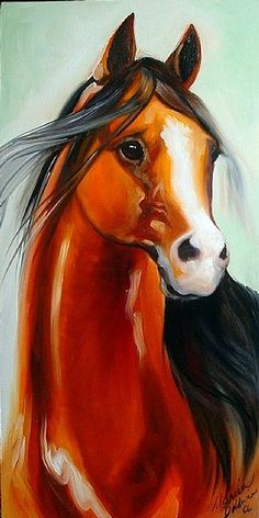 """The Arabian"" ~ Marcia Baldwin"