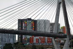 Anzac Bridge -  Sydney  by  http://beaspokequilts.blogspot.com.au/
