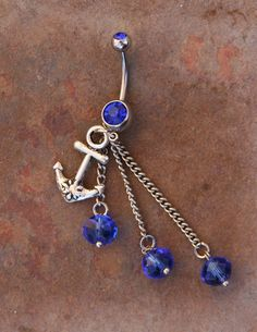 Anchors Away Captain DeSIGNeR Belly Button Ring by chuckhljal, $25.00