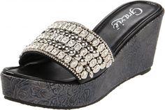 bling sandals   Grazie Bracelet Bling Sandals - Branded Western Wear