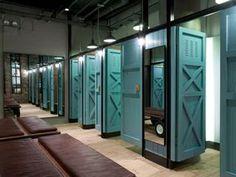 changing room, doors, wood,