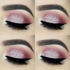 For the love of glitter ✨ – Brows: Eyeko London Brow Game Strong all-in-one br… - Makeup Tips Tutorials Glitter Brows, Glitter Eye Makeup, Eyeshadow Makeup, Drugstore Makeup, Glitter Hair, Loreal Eyeliner, Gray Eyeshadow, Black Eyeliner, Glitter Eyeshadow Tutorial