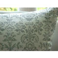 Innocence - 16x16 Inches Velvet Pillow Cover with Silver Glitter Design. $18.70, via Etsy.