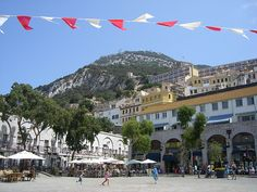Gibraltar - Town Square (good place to people watch & drink Spanish tinto verano - a mix of red wine & lemonade per Richard)