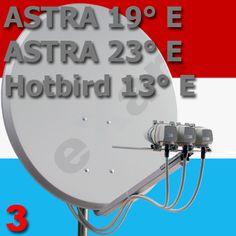 Luxemburgische TV- Komplett- Anlage :: SAT-Empfangsanlage Montage-Anleitung fuer Luxemburg- Astra 19 Astra 23 und Hotbird 13
