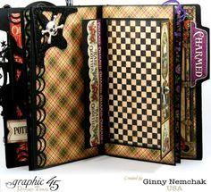 Rare Oddities Mini Album with Graphic 45 by Ginny Nemchak