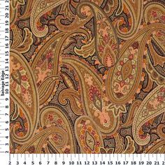 Absolutely Cotton Quilting Prints - Beige Paisley on Cotton Fabric
