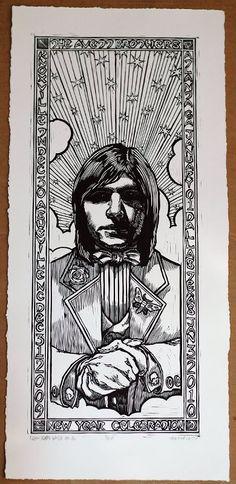 Scott Avett print (2 of 3) for NYE 2009 (shows #32, 33, 34)