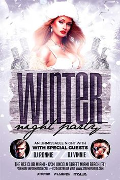 Winter Night Party Flyer Template - http://xtremeflyers.com/winter-night-party-flyer-template/ Winter Night Party Flyer Template   Winter Night Party Flyer Template PSD was designed to advertise a cold winter event inside your bar/club/pub.  If you are planning this kind of event, and you are searching for an impressive design, then this template would be the perfect choice!   The #Celebration, #Christmas, #Flyer, #Party, #Poster, #Psd, #Template, #Winter, #Xmas