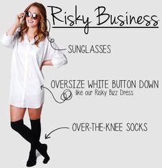 DIY Risky Buisness Dress www.cheekypeachathens.com