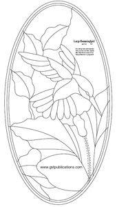 Free Large Hummingbird Bevel Panel Pattern - Bird Patterns - GST Publications