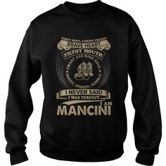 Cool MANCINI TShirt. Funny Gifts For Men/Women #gift #ideas #Popular #Everything #Videos #Shop #Animals #pets #Architecture #Art #Cars #motorcycles #Celebrities #DIY #crafts #Design #Education #Entertainment #Food #drink #Gardening #Geek #Hair #beauty #Health #fitness #History #Holidays #events #Home decor #Humor #Illustrations #posters #Kids #parenting #Men #Outdoors #Photography #Products #Quotes #Science #nature #Sports #Tattoos #Technology #Travel #Weddings #Women
