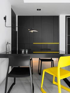 Taichung-H-Residence-Z-AXIS-DESIGN-10 http://design-milk.com/black-white-apartment-yellow-accents/