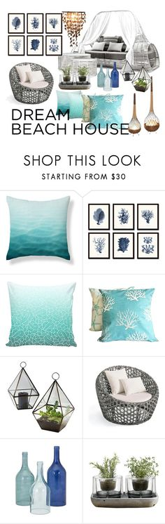 """""""Untitled #137"""" by faceless-girl on Polyvore featuring interior, interiors, interior design, home, home decor, interior decorating, Quahog Bay Bedding, Grandin Road, Nude and beachhouse"""