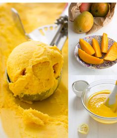 Helado de mango casero - Pecados de Reposteria
