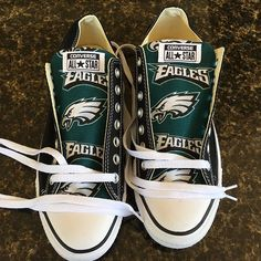 Philadelphia eagles Converse Sneakers - http://cutesportsfan.com/philadelphia-eagles-designed-sneakers/