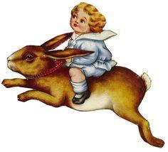 La Bande des Faineantes: Vintage Easter Vignettes -1-