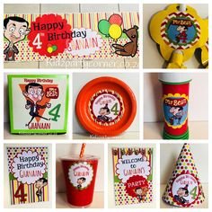 Mr Bean themed party supplies, favours and decor. We design and create any theme for any occasion and age customised according to your specifications. Door to door courier country wide at affordable prices - unique and convenient. Styling and set-up packages available in Pretoria and Johannesburg at you own venue. Visit our website www.kidzpartycorner.co.za or email Info@kidzpartycorner.co.za for more details Mr Bean Birthday, Lego Birthday, Birthday Parties, Mr. Bean, Party Corner, Bean Cakes, Kids Party Themes, Pretoria, Baby Party