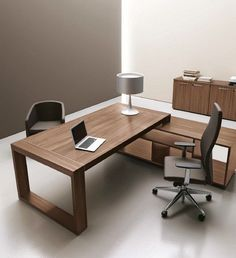 Le plus chaud Pic Bureau direction Style Small Office Design, Office Table Design, Office Furniture Design, Small Room Design, Workspace Design, Office Interior Design, Office Interiors, Home Interior, Wood Furniture