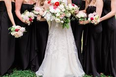 Loving these bridesmaids flowers. Check out those orchids!  Wedding Planner: Mac & B. Events www.macandbevents.com Photographer: Jess Barfield www.jessbarfield.com  Florist: Stems of Dallas www.stemsofdallas.com