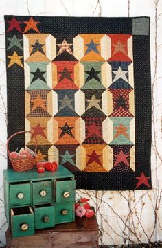Country Threads :: Stars Quilt Patterns :: 20th Anniversary Spools / / rustic, country