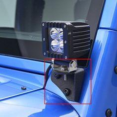 E-Autogrilles Jeep Wrangler TJ YJ Windshield Light Mount Brackets for Jeep TJ Lower Hinges