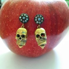 Check out this item in my Etsy shop https://www.etsy.com/listing/237830412/diamond-skull-earrings-sexy-birthday