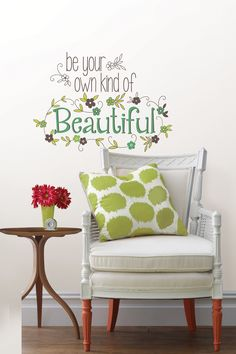 "Be Your Own Kind Of Beautiful Wall Quote ~ US$12.00 (Original: US$18.00  33% off) http://www.hautelook.com/short/1hdi7  - Peel and stick - Comes on two 9.75"" x 17.25"" sheets - Made in USA"